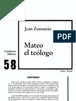 Zumstein Jean Mateo El Teologo