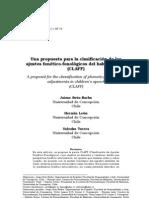 Una propuesta para la clasificación de los ajustes fonetico-fonologico del habla infantil