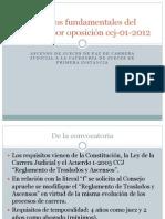 Aspectos fundamentales del concurso por oposición ccj-01-2012