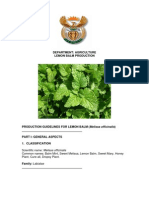 Production Guide for Lemon Balm FINAL