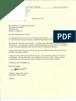 Archbishop Gregory Aymond's Letter to St. Genevieve Parish