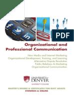 Organizational and Professional Communication