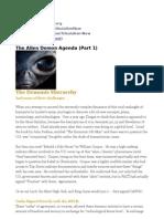 The Alien Demon Agenda