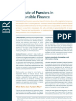 The Role of Funders in Responsible Finance