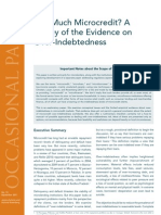 Too Much Microcredit? A Survey of the Evidence on Over-Indebtedness