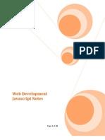 Web Development Javascript Notes