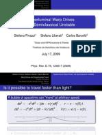 Stefano Finazzi, Stefano Liberati and Carlos Barceló- Superluminal Warp Drives are Semiclassical Unstable