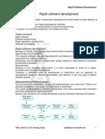 Software Engineering Advanced Techniques (RAD Agile XP Etc.)