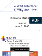 Deshpande Oracle Wait Interface Keynote