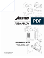 Arrow Price Book 2012