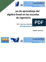 Problemas-Aprendizaje-Algebra Lineal en Ingenieria