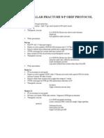 Patellar Fracture S-p Orif Protocol