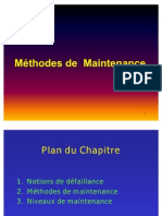 Méthodes de  Maintenance