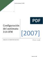 Configuración del autómata IFM