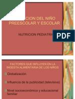 NUTRICION DEL NIÑO PREESCOLAR Y ESCOLAR