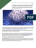 018 - Usability Geek - Website Usability Through Automated Usability Evaluation