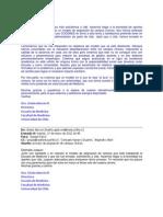 E-mails Dra. Gisela Alarcón. Sobre Proceso de Asignación de Campus Clínicos 2011