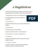 Signos lingüísticos