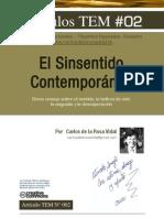 El Sinsentido Contemporáneo | Carlos de la Rosa Vidal