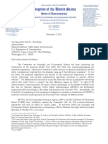 Letter to NHTSA December 7, from House Oversight Committee
