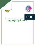 Language Systems II Unit 2 Lesson1
