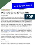 year 1 newsletter