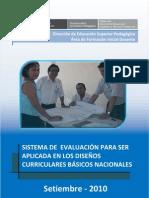 Sistema de Evaluacion de Aprendizajes