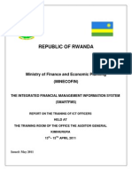 Report on the Training of ICT Officers on the SmartFMS - 13th - 15th April 2011_ver1