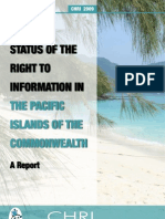 Status of Right to Information in Pacific Islands of Commonwealth CHRI 2009