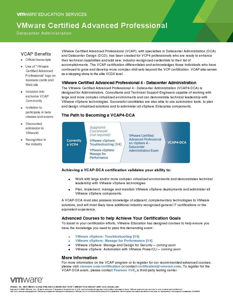 Vcap Dca Program Overview Trademark Certification