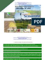 2do Decadal Enero 2012-Valles-La Paz Centro, Cochabamba Sucre, Tarija, Monteagudo Valle Grande