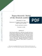 Alexander K. Guts- Topos-theoretic Model of the Deutsch multiverse
