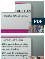 Your Life in Christ Power Point Introduction
