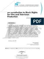 An Introduction to Music Rights for Film and Television Production