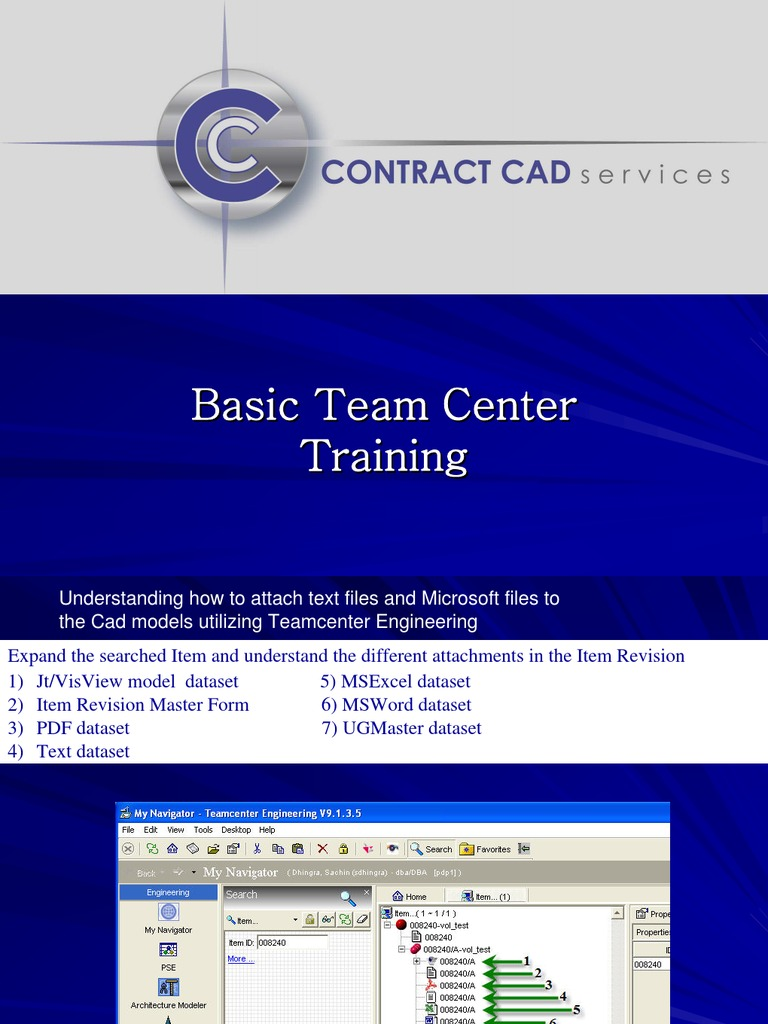 Team Center TDM Training | Product Lifecycle | Information