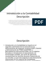 Introducción a la Contabilidad Descripción
