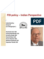 FDI policy – Indian Perspective