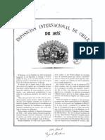Programa jeneral de la Exposición Internacional de Chile de 1875. (1875)                        bne