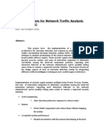 Security Agents for Network Traffic Analysis