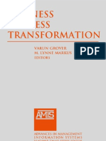 Business Process Transformation Advances in Management Information Systems