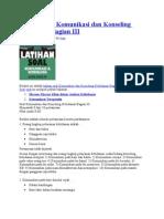 Latihan Soal Komunikasi Dan Konseling Kebidanan Bagian III