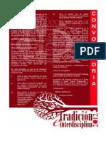 Convocatoria Seminario Tradicion e Interdisciplina 2012