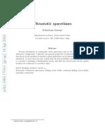 Sebastiano Sonego- Ultrastatic spacetimes