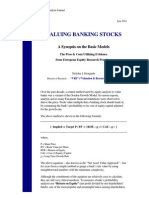Valuing Banking Stocks Pros and Cons