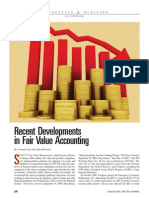 Recent Developments in Fair Value Accounting