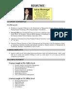 Ankur Bhatnagar Resume