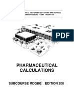 US Army Medical Course MD0802-200 - Pharmaceutical Calculations
