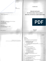 Sava, Florin 2005 Analiza Datelor in Cercetarea Psihologica Metode Statistice Complement Are I