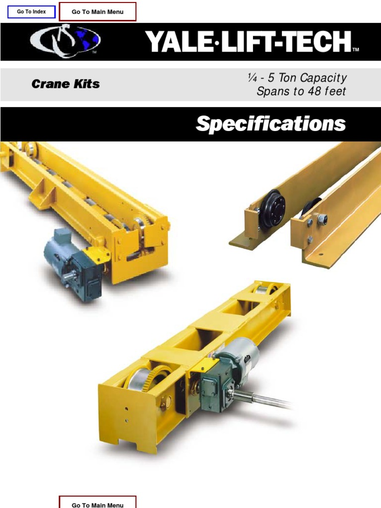 Crane Kits Specifications - CSL1003-0206 | Crane (Machine) | Axle
