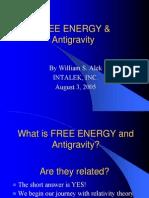 FREE ENERGY and Anti Gravity
